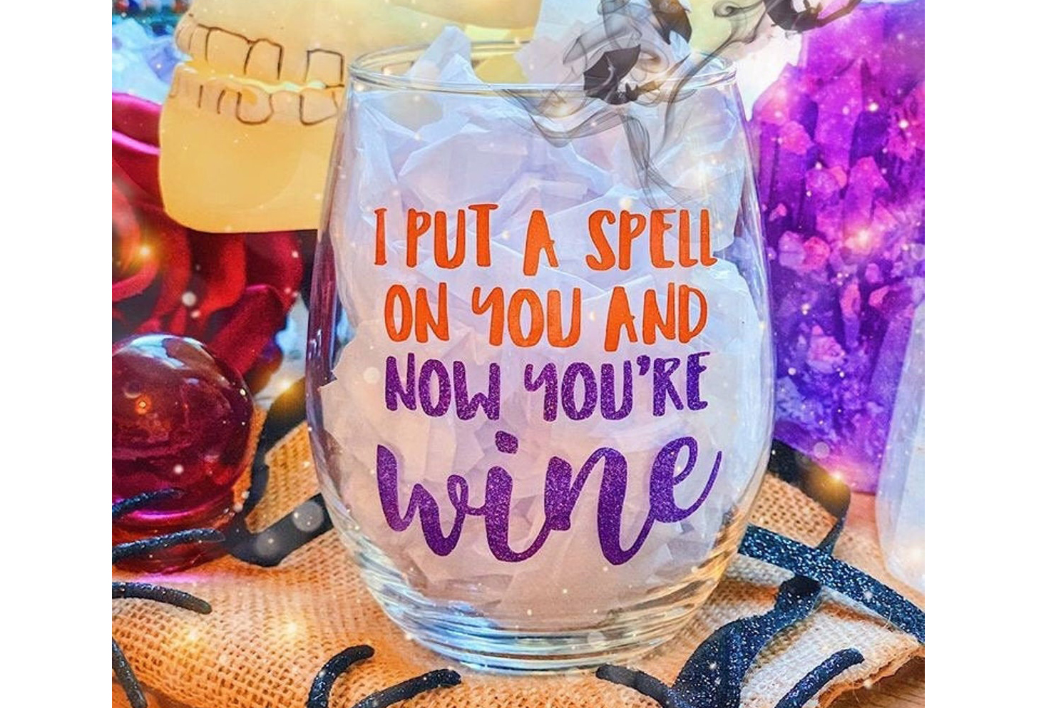 I Put a Spell On You Wine Glass