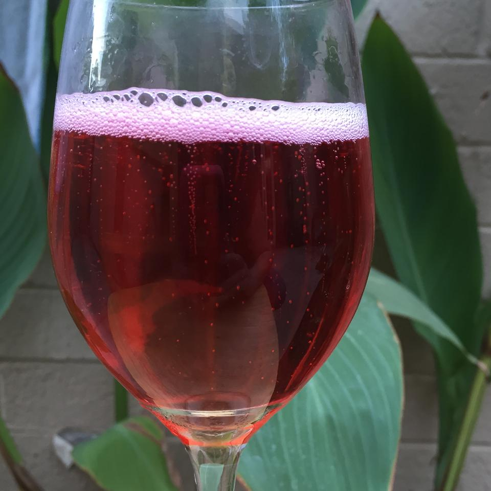 Red, White, and Bull in a glass
