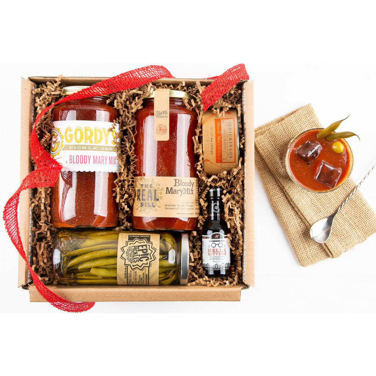 Bloody Mary Kit in a wooden box