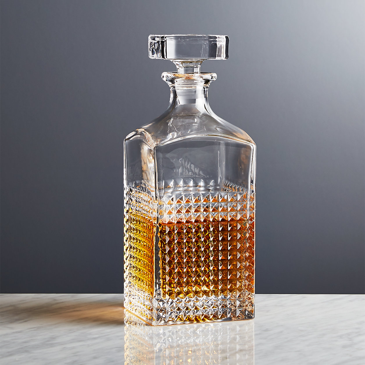 Decanter filled with whiskey