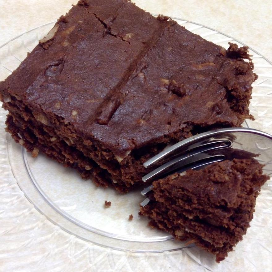 gluten-free brownie on a plate