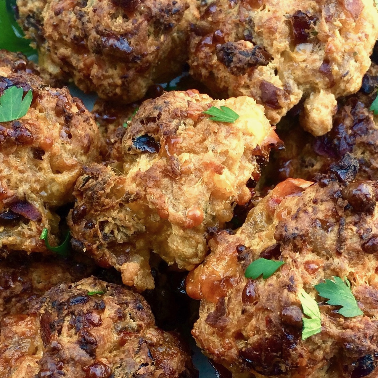 cranberry and Cheddar sausage balls