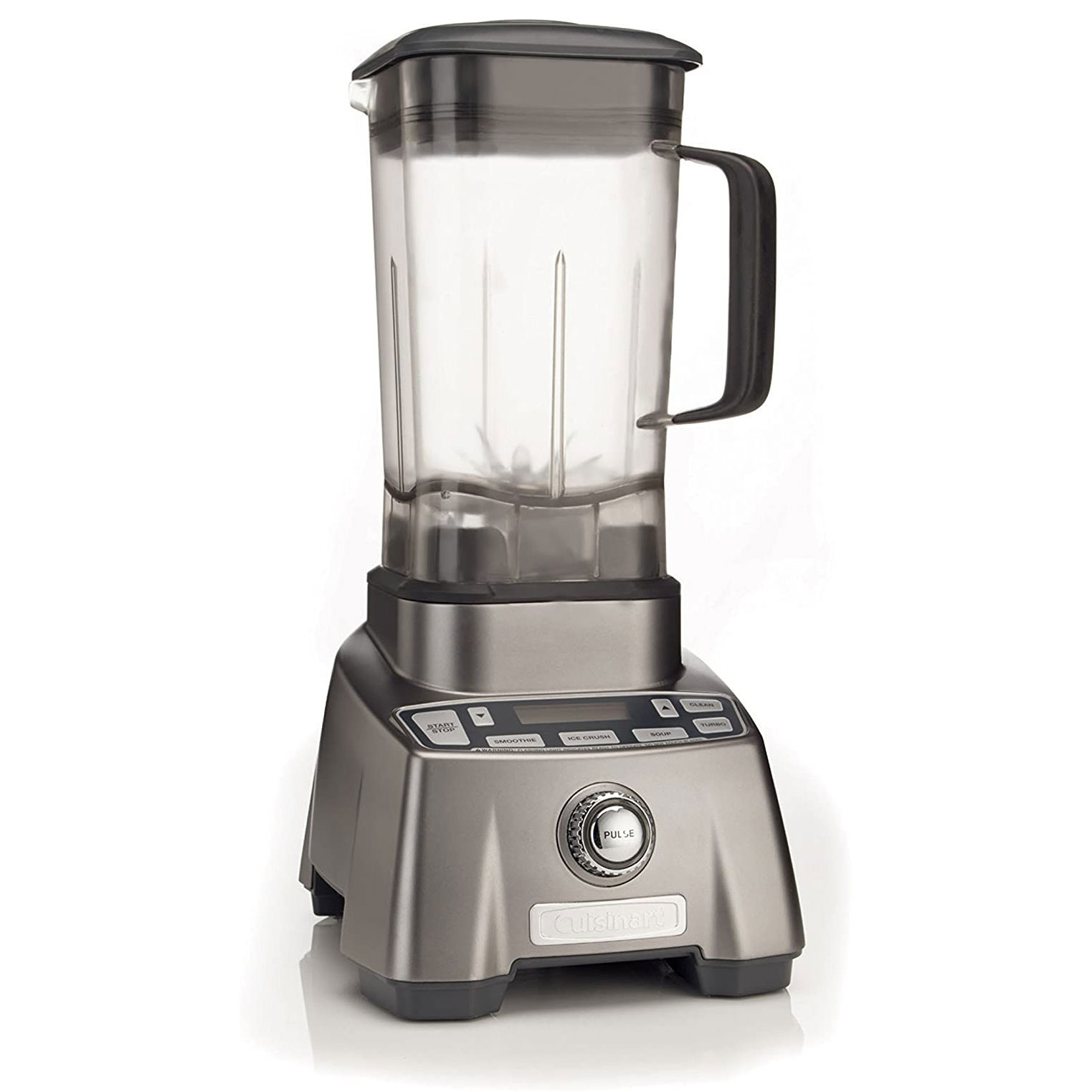 Cuisinart Blender with metal base on white background