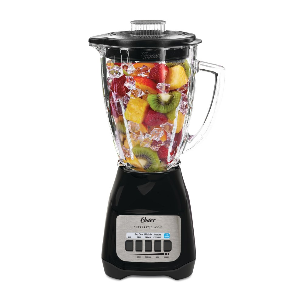 Oster classic blender with fruit inside