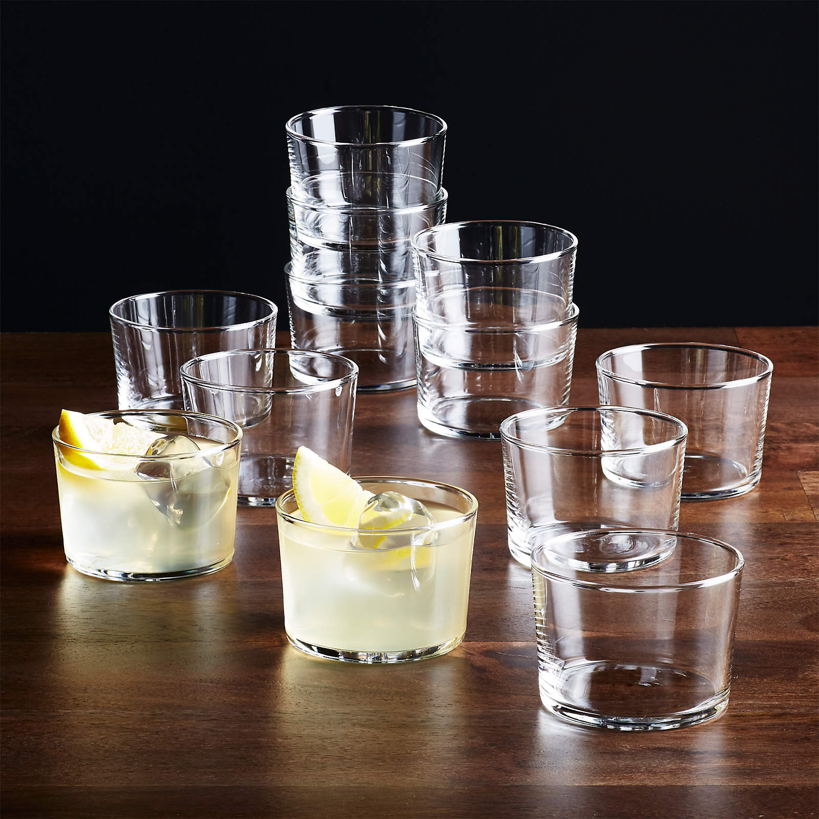 set of 12 7 ounce Bodega glasses