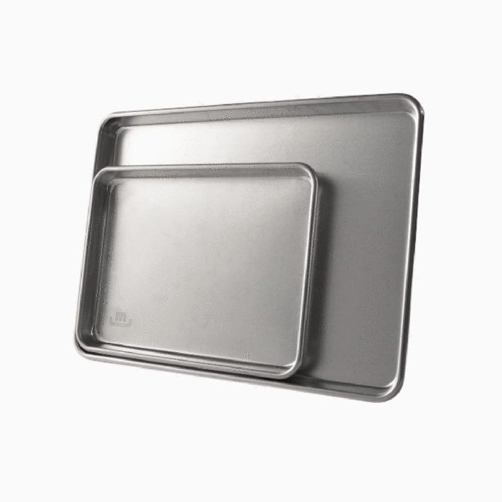 two Made In stainless steel sheet pans