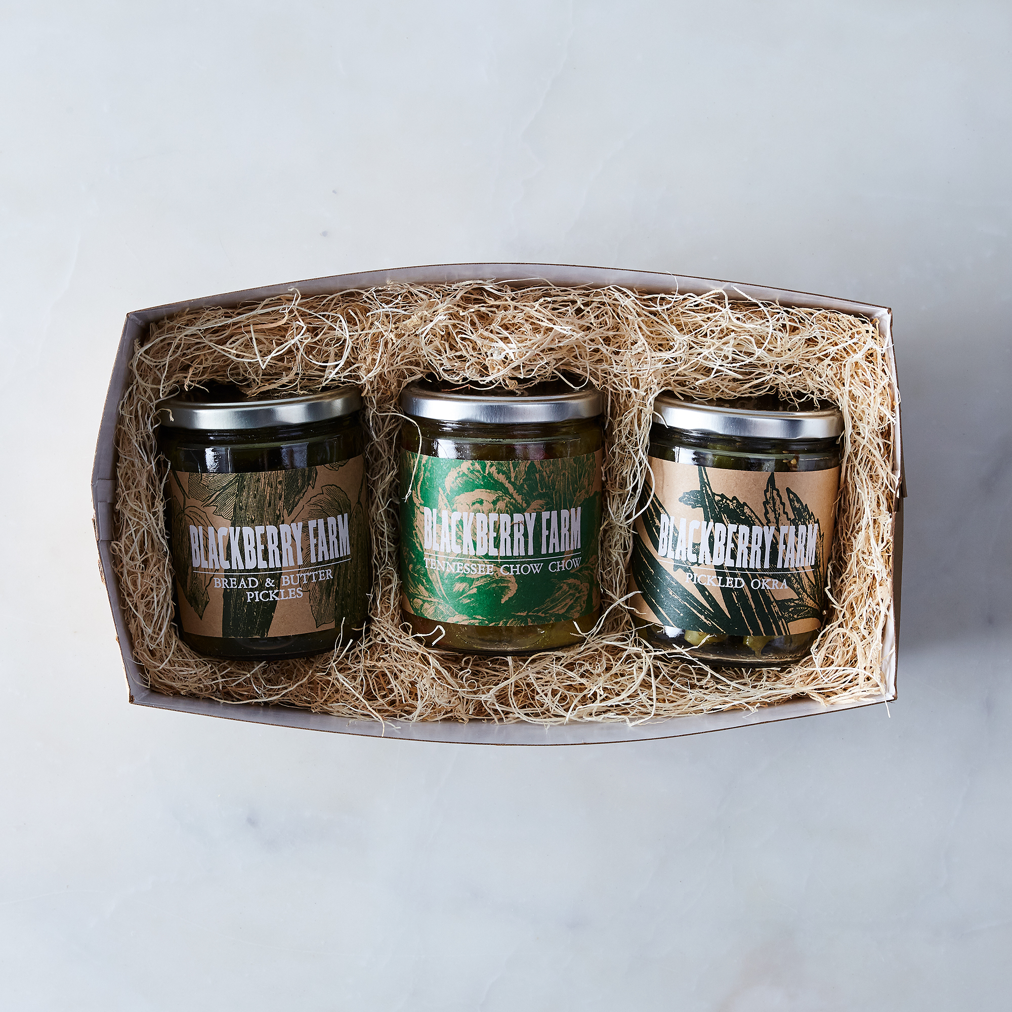 Blackberry Farm Pickle Trio in a box