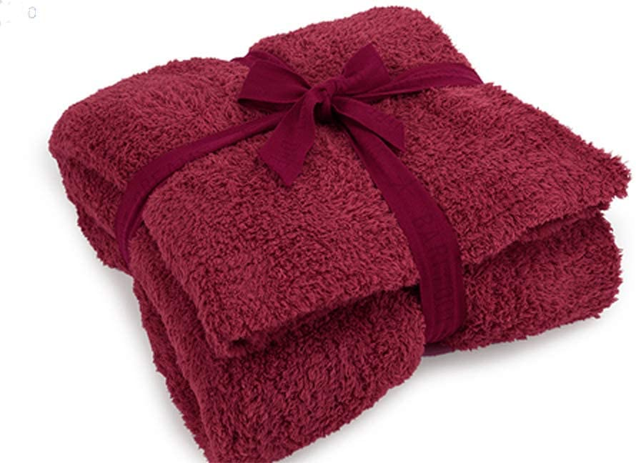 Maroon blanked folded with ribbon