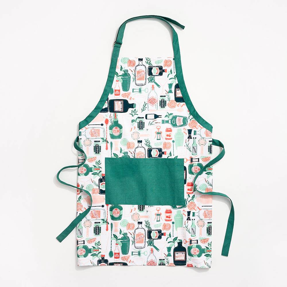 Paper Source Cocktail Apron on a white background