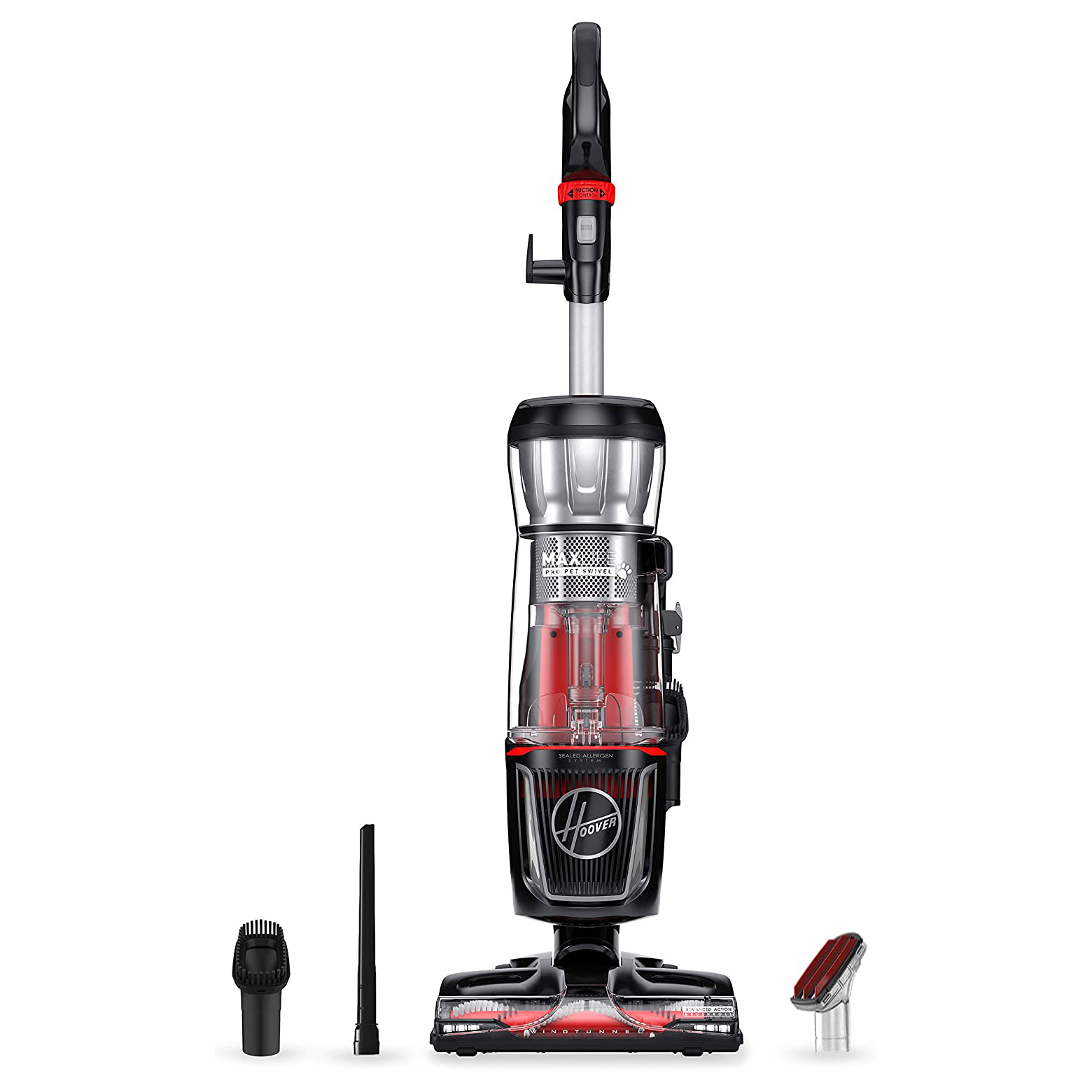 Hoover MAXLife Pro Pet Swivel HEPA Media Vacuum Cleaner, Bagless Upright for Pets Hair and Home