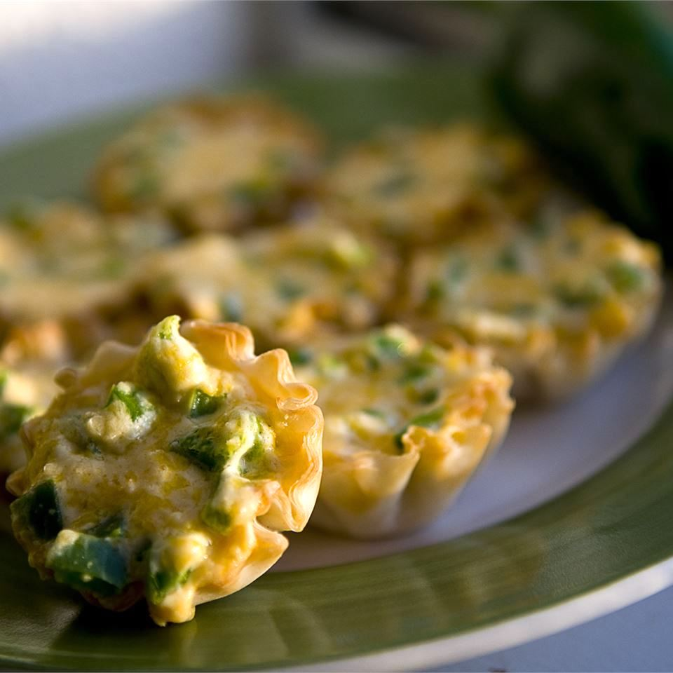 jalapeno popper pastries on a plate