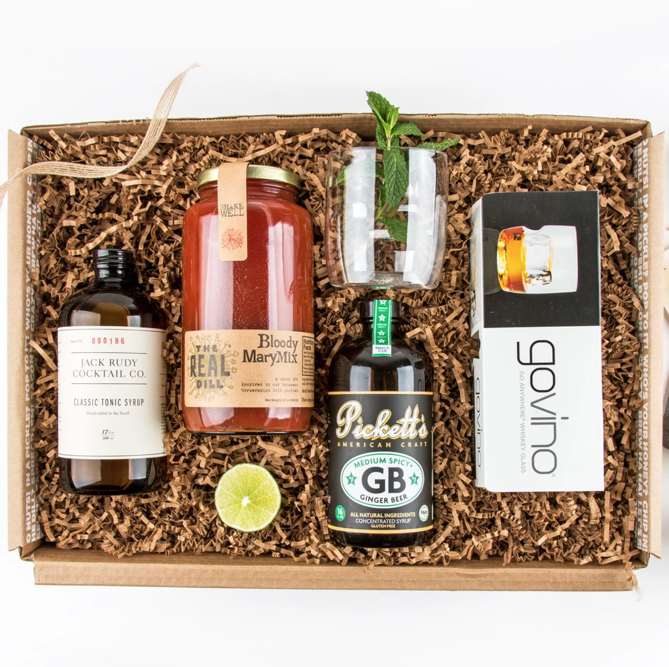 Mouth Just Add Vodka Gift Set in a cardboard box