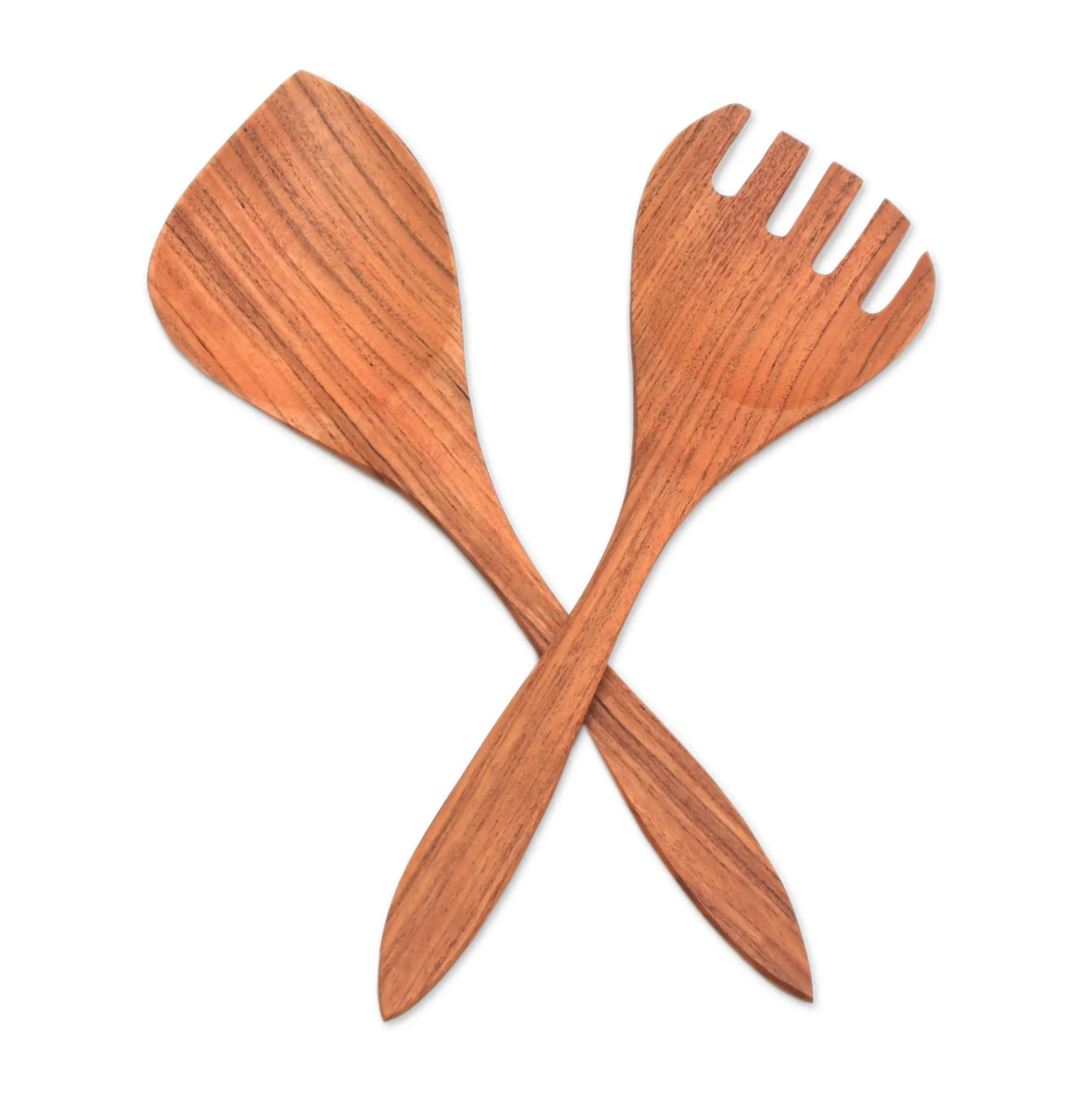 UNICEF Teak Wood Serving Utensils on a white background