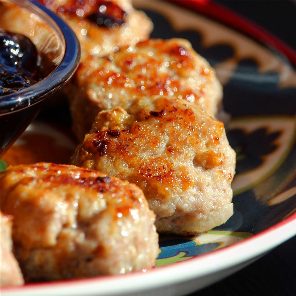 Swedish meatballs with dipping sauce