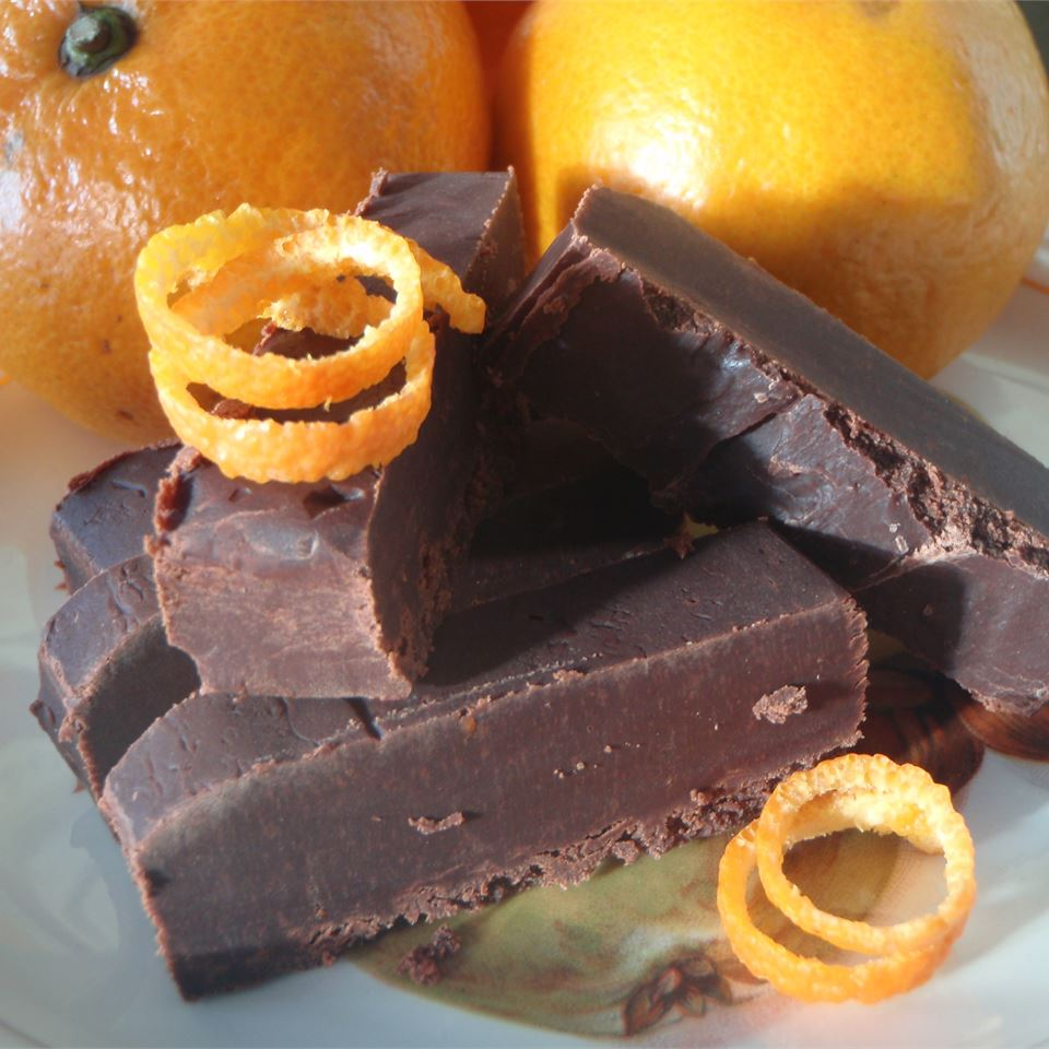 squares of chocolate orange fudge