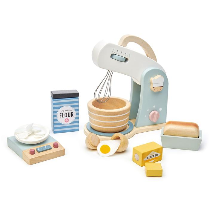 Set of wooden baking tools for kids