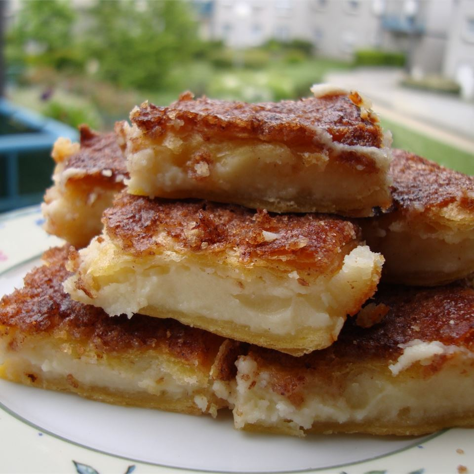plate of cream cheese squares