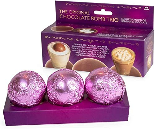 hot chocolate bombs in a box of 3