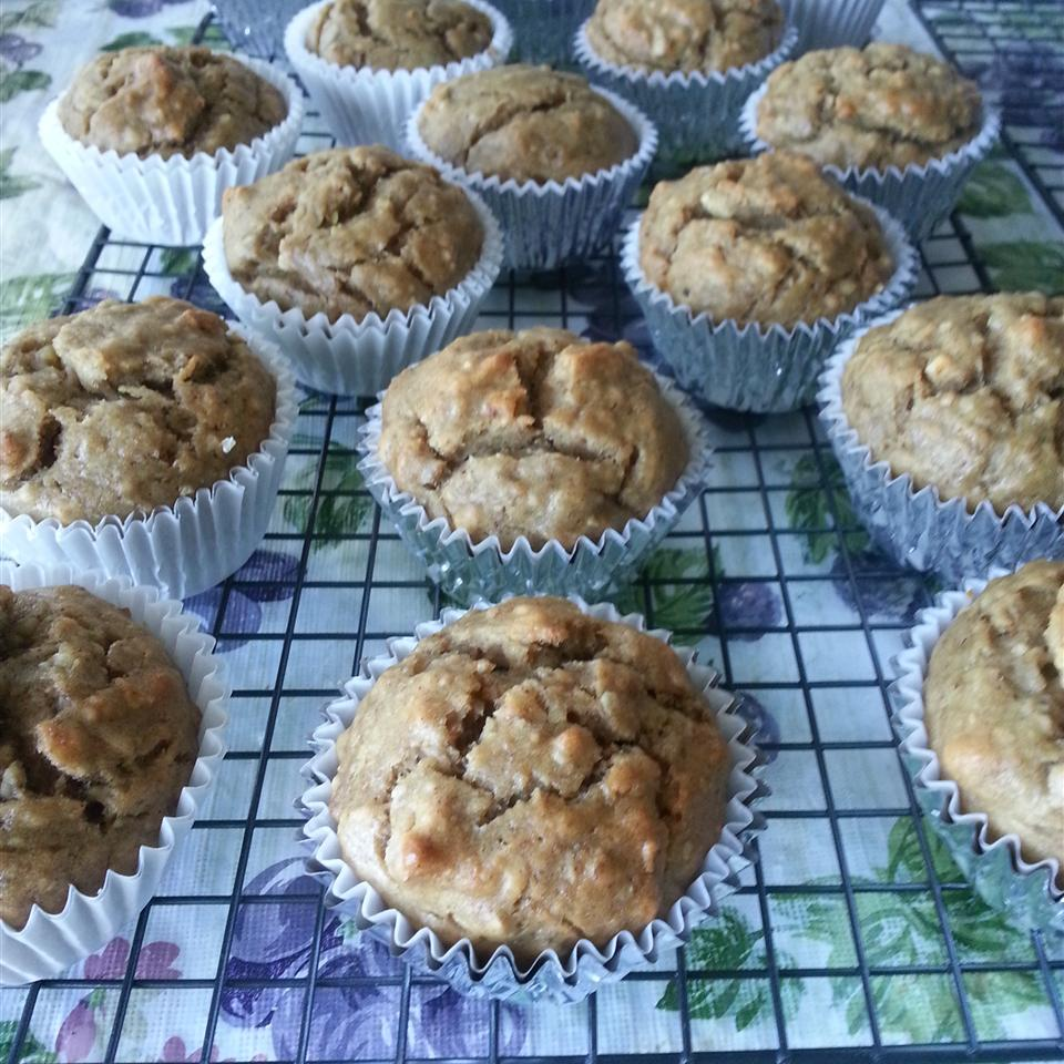Vegan Banana Nut Muffins on a cooling rack