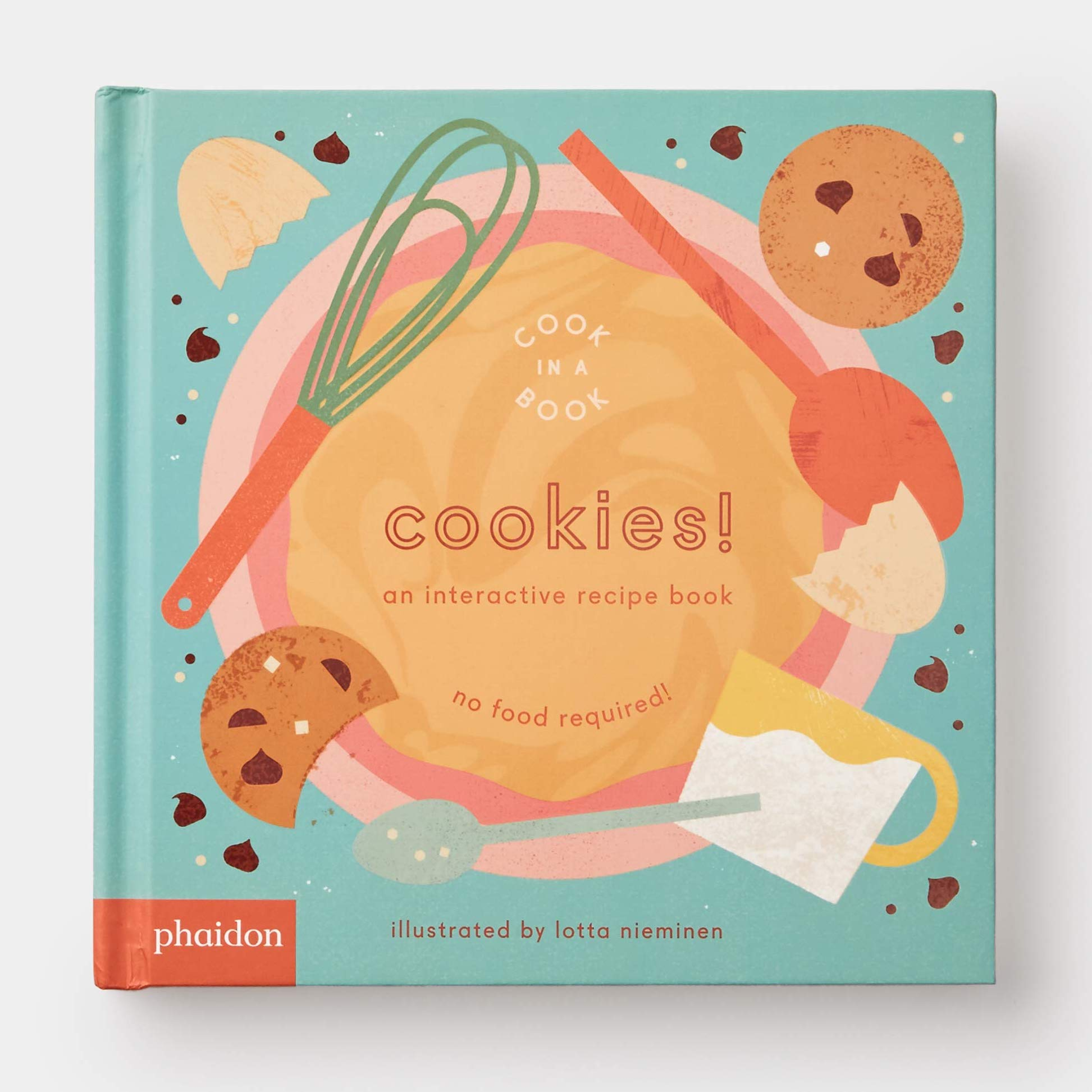 Cookies! book featuring baking illustrations on the cover