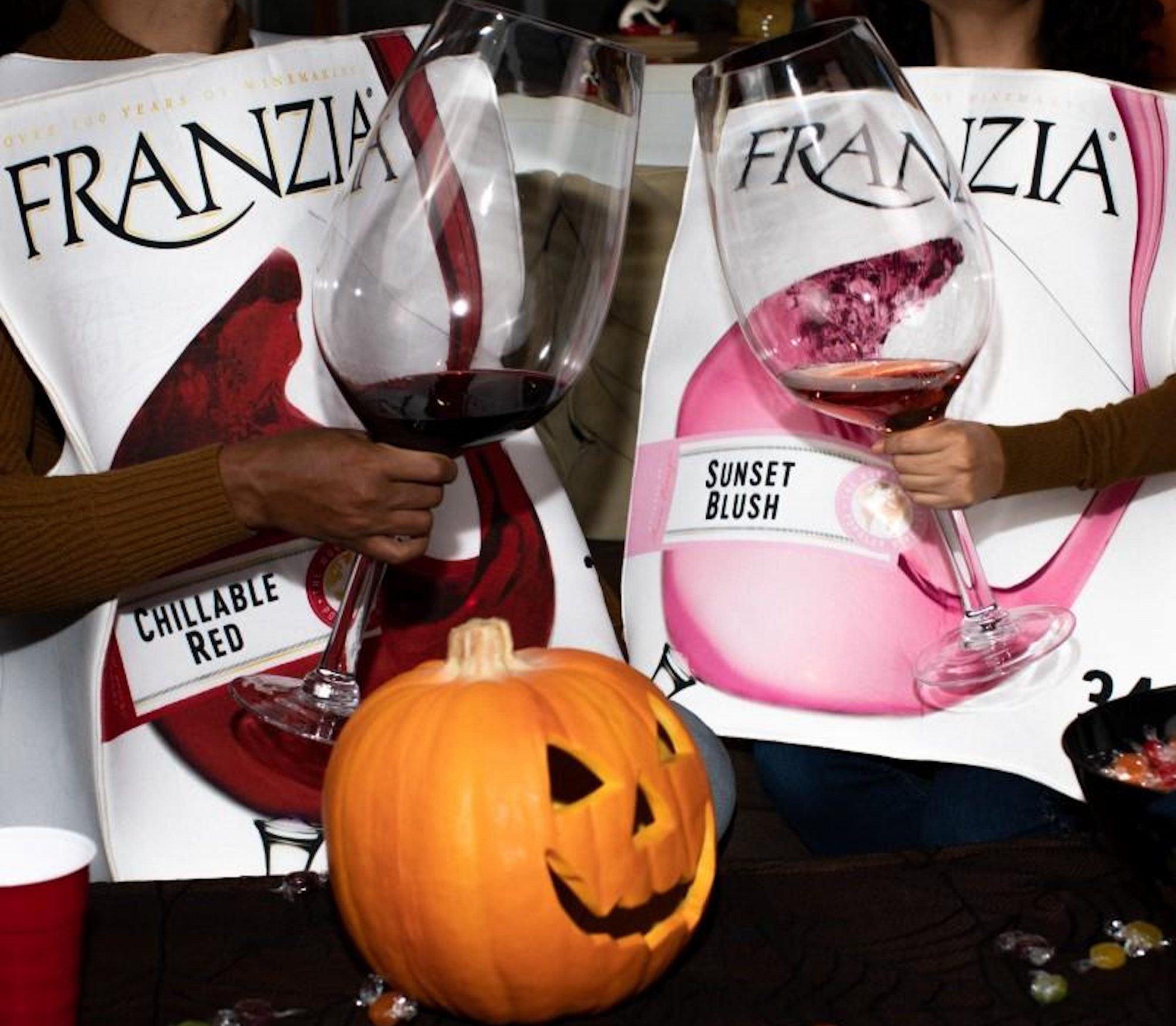 Franzie Halloween costumes in Chillable Red and Sunset Blush