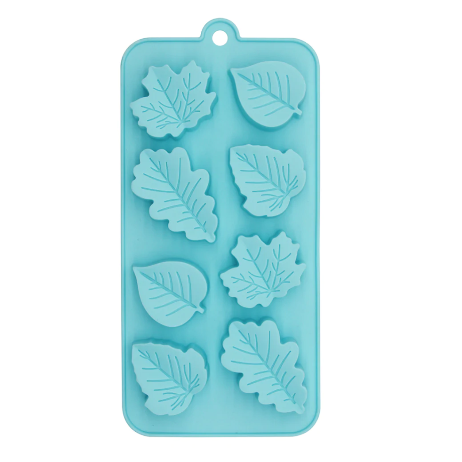 Leaves Silicone Candy Mold in blue