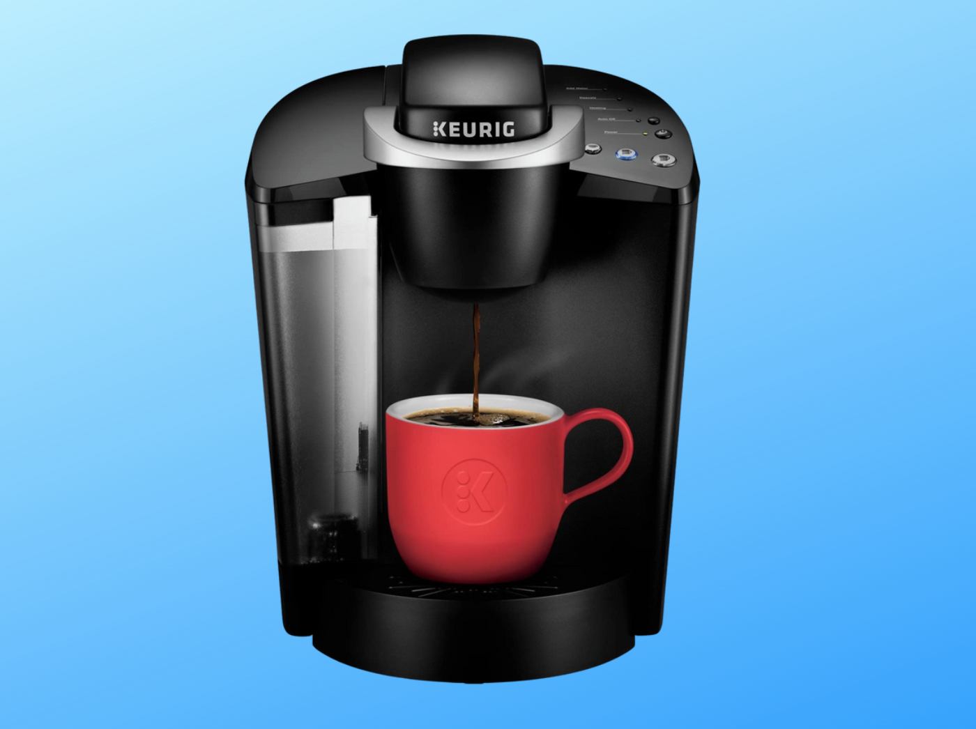 keurig k-classic on blue background
