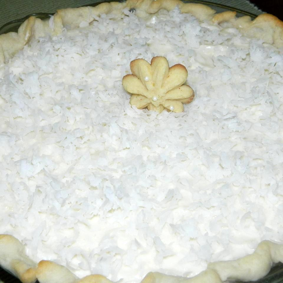 pie with coconut topping