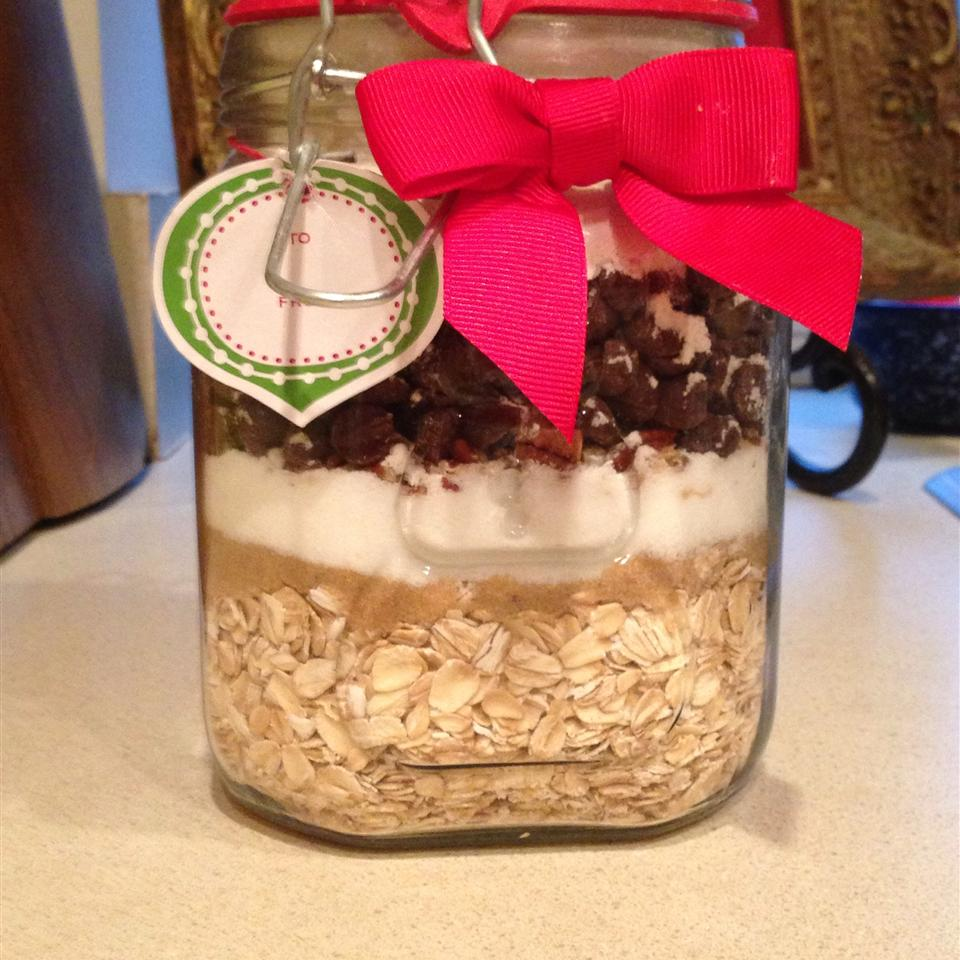Country Oatmeal Cookie in a Jar with a red bow