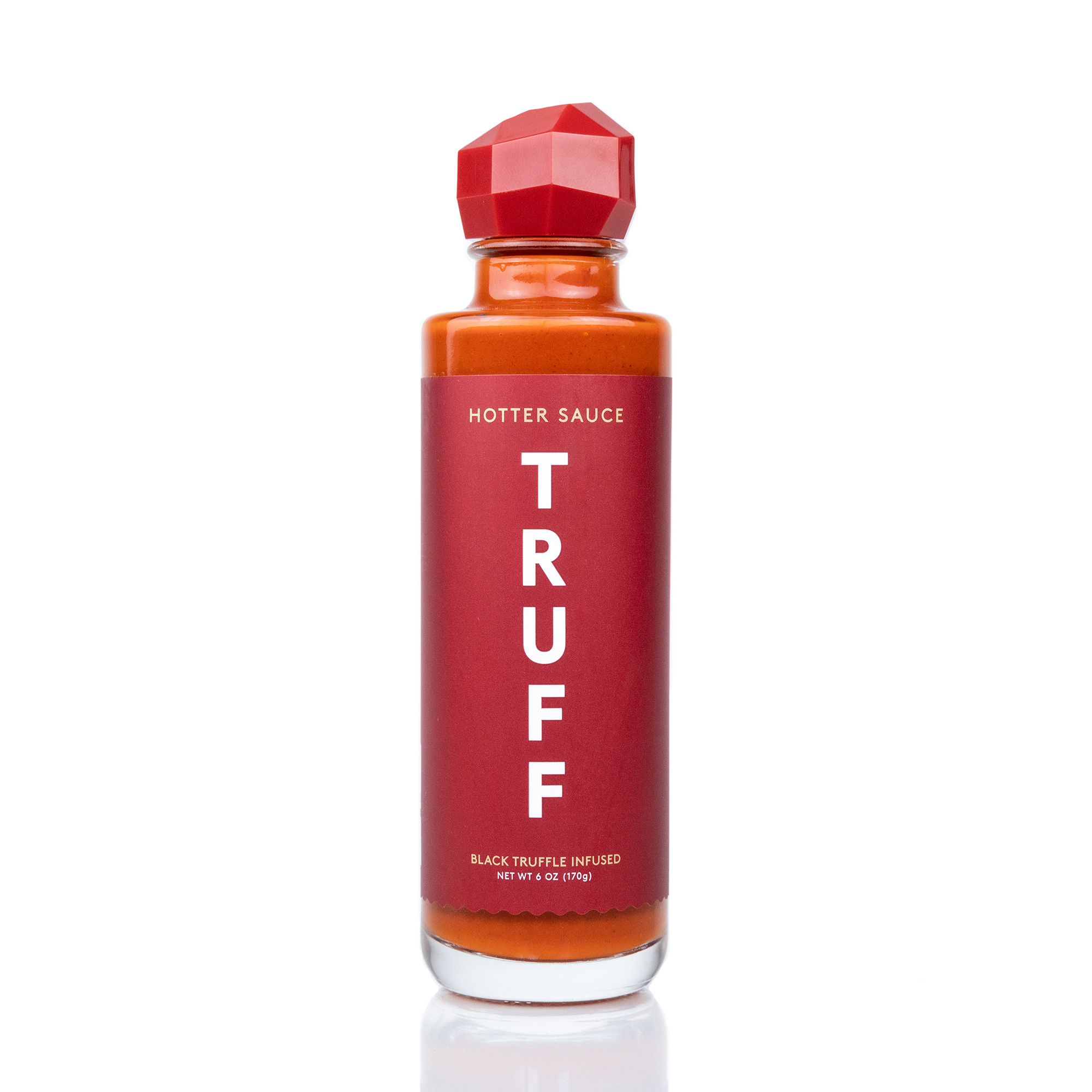 TRUFF Hotter Hot Sauce on a white background
