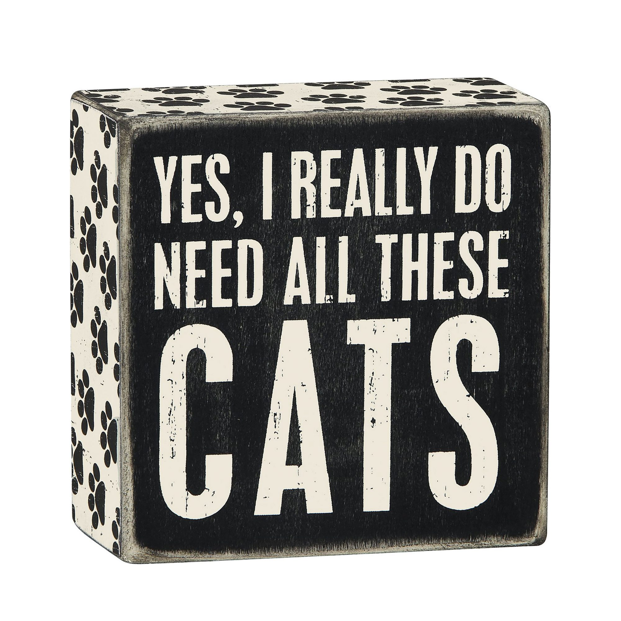 Black and white decorative cat sign