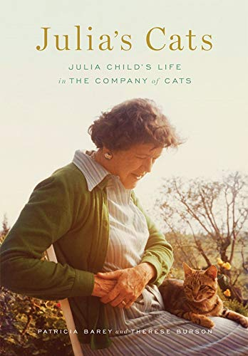 Cover of book with Julia Child and her cat