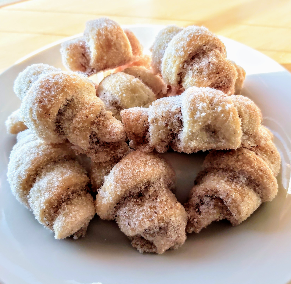 """""""Delicious! I made them a little smaller and rolled them into granulated sugar after I removed them from the oven,"""" says reviewer Christina. """"These are gonna be a new cookie tradition in our family ... everyone LOVED them — yum! Thanks for sharing."""""""