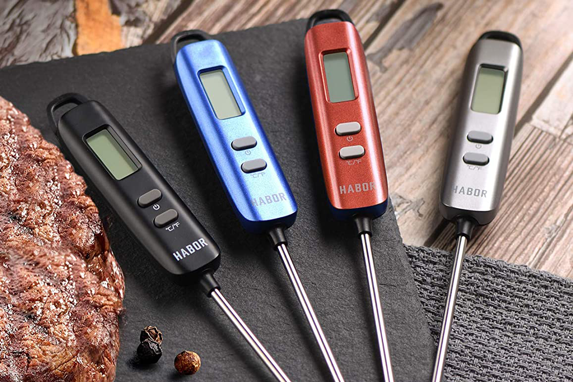 Habor 022 Meat Thermometer, Instant Read Thermometer Digital Cooking Thermometer