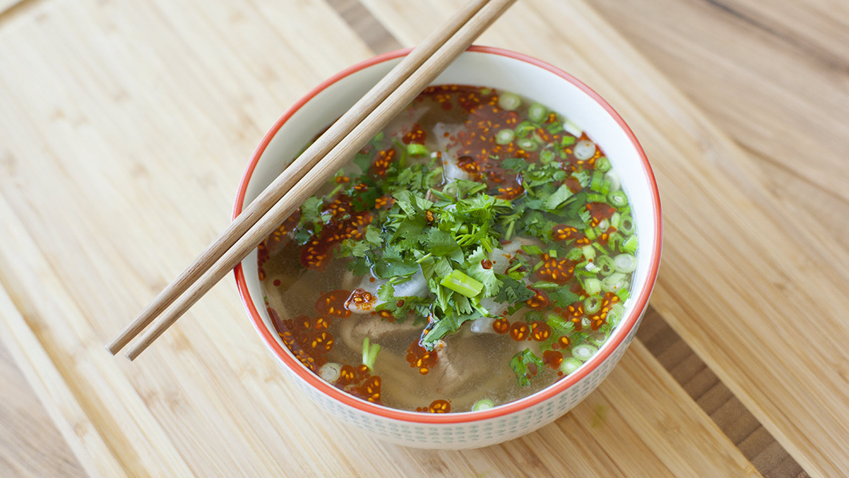 Chinese Hand Pulled Noodles in Beef Broth
