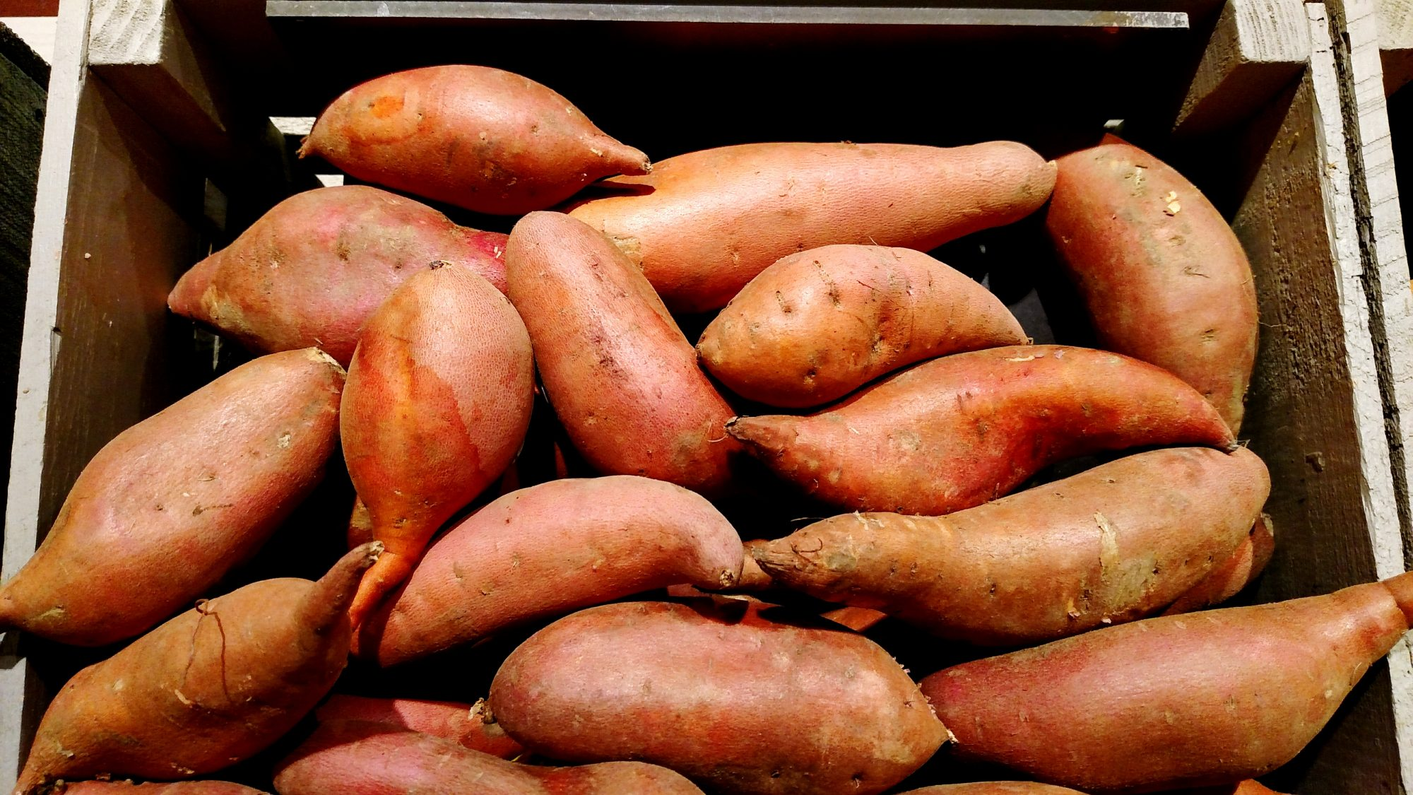sweet potatoes in a pile