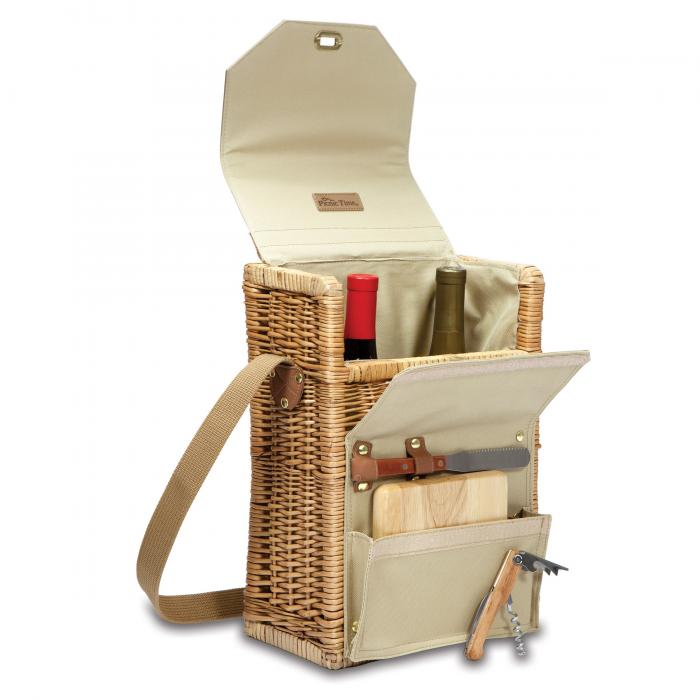 picnic basket for wine