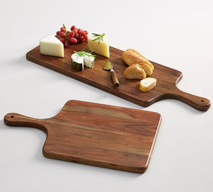 two wooden serving boards