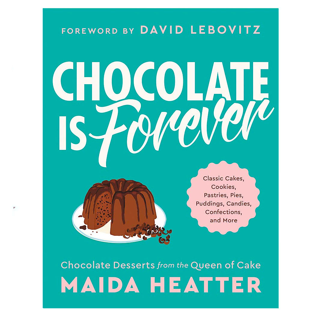 Chocolate Is Forever cookbook with turquoise cover