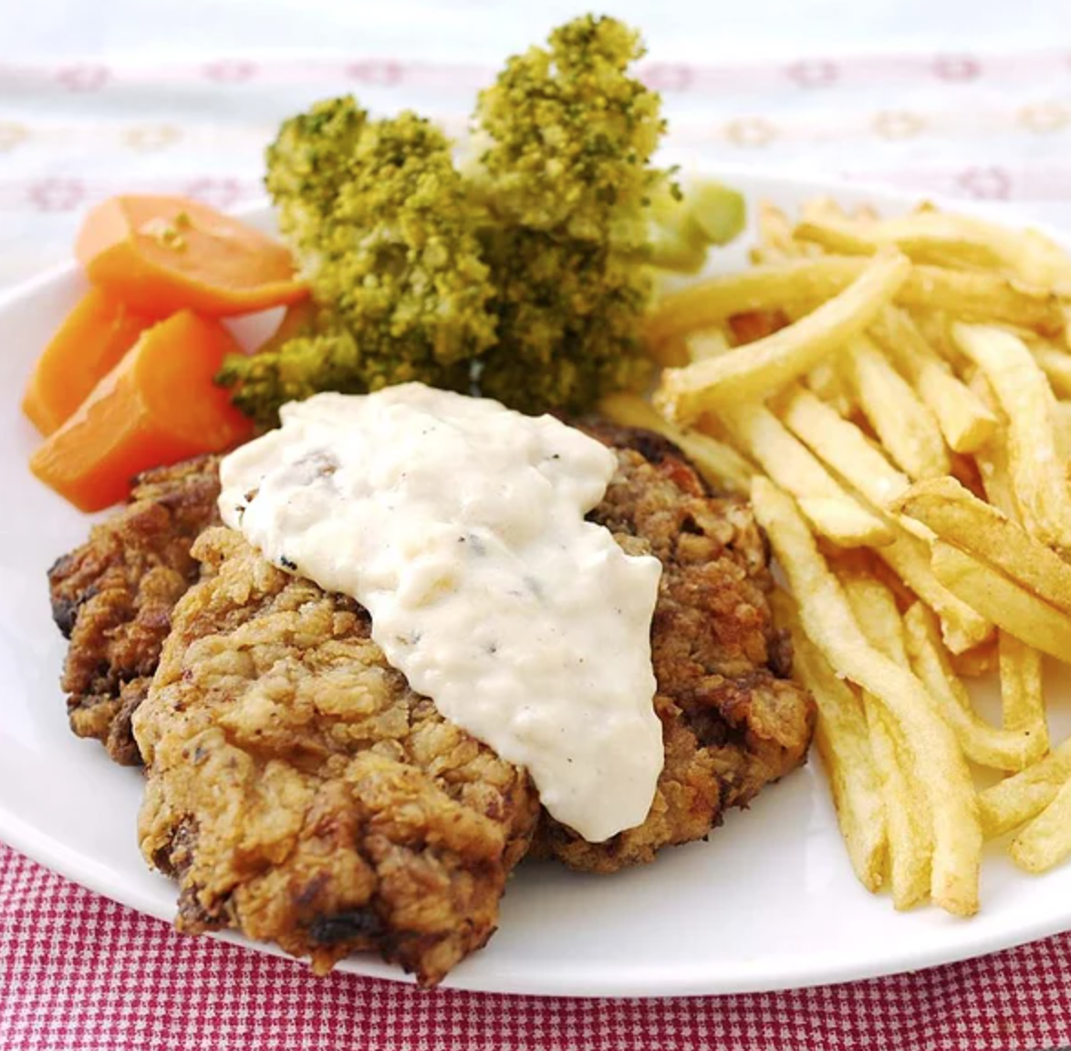 country fried steak on a plate