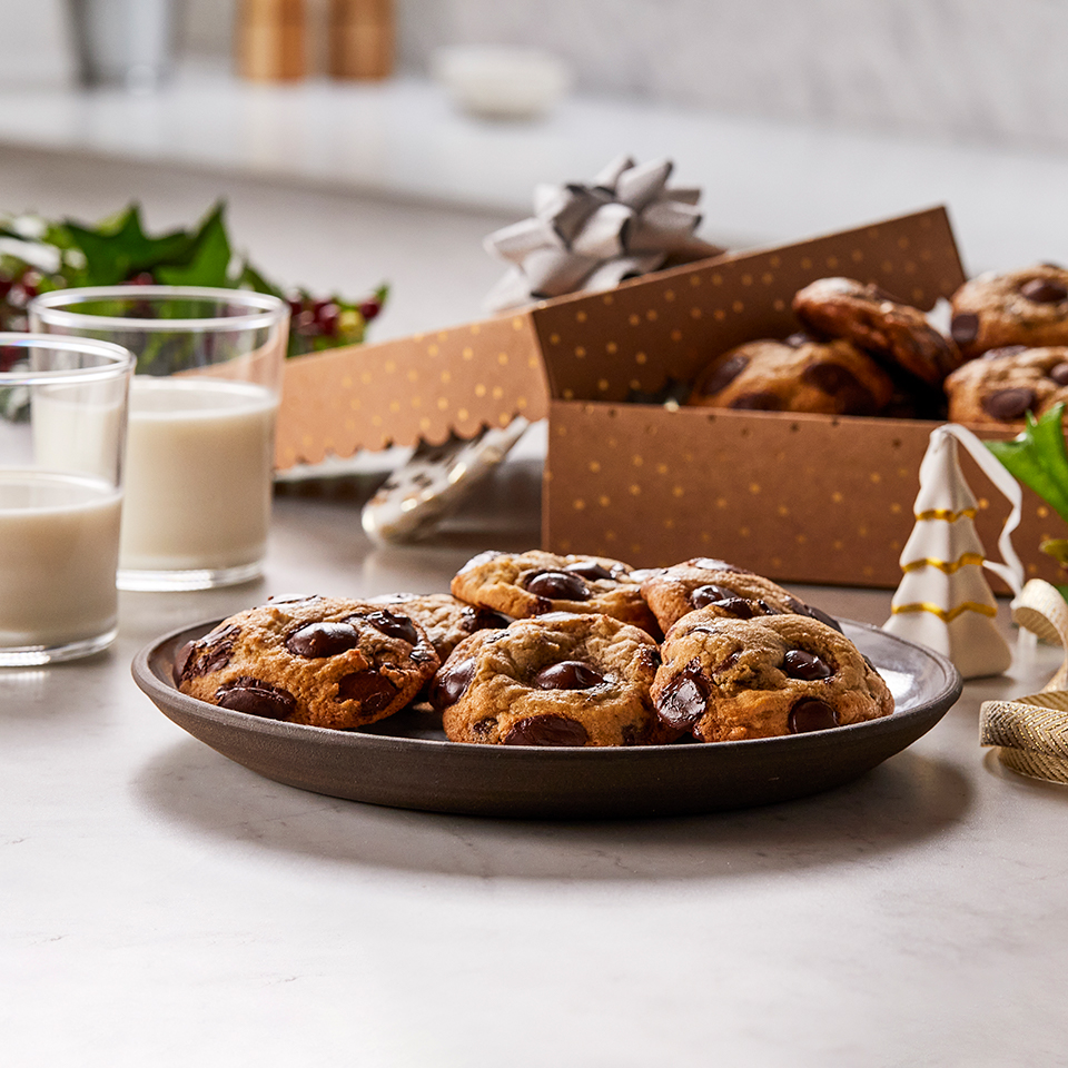 Ghirardelli® Classic Chocolate Chip Cookies on a white plate