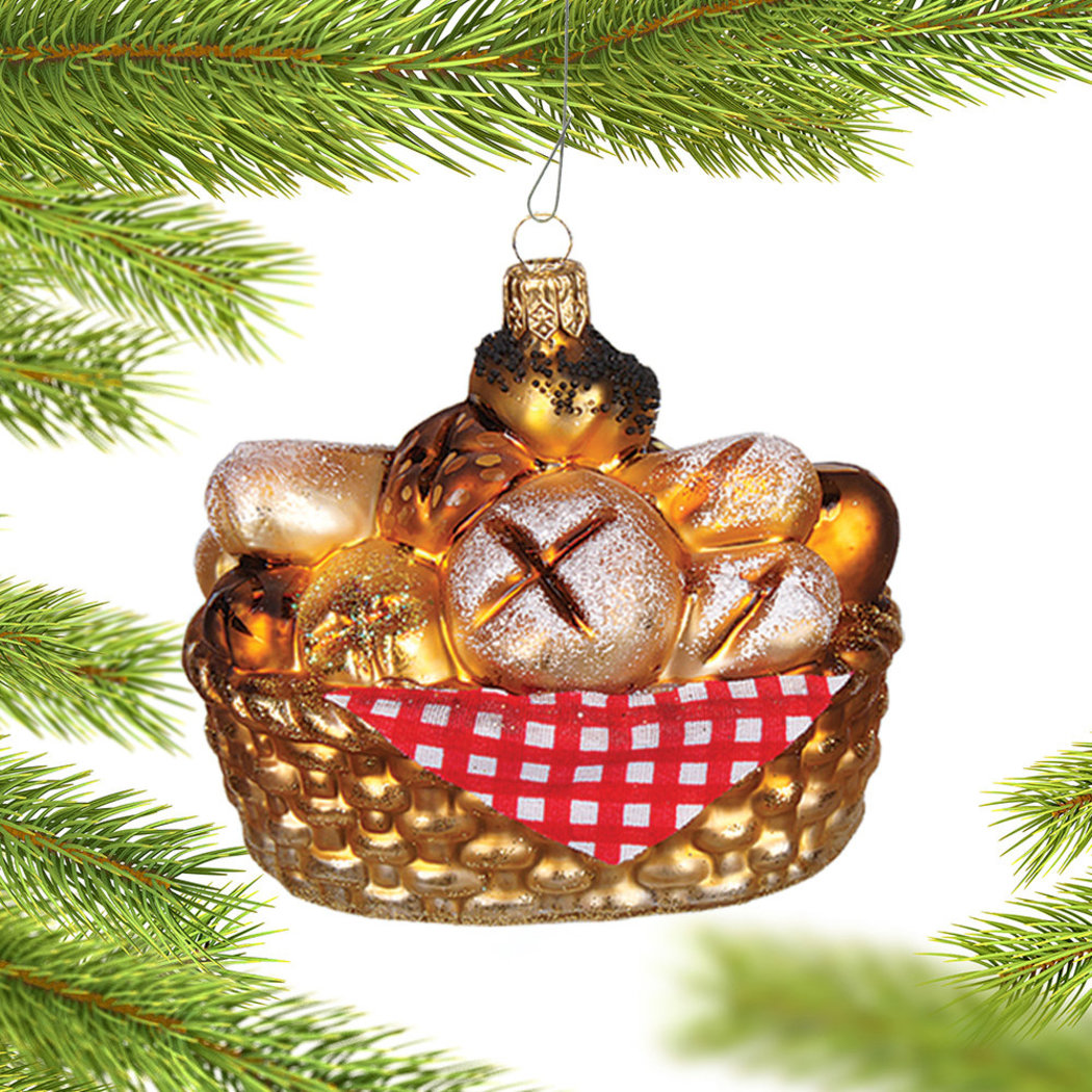 bread basket ornament