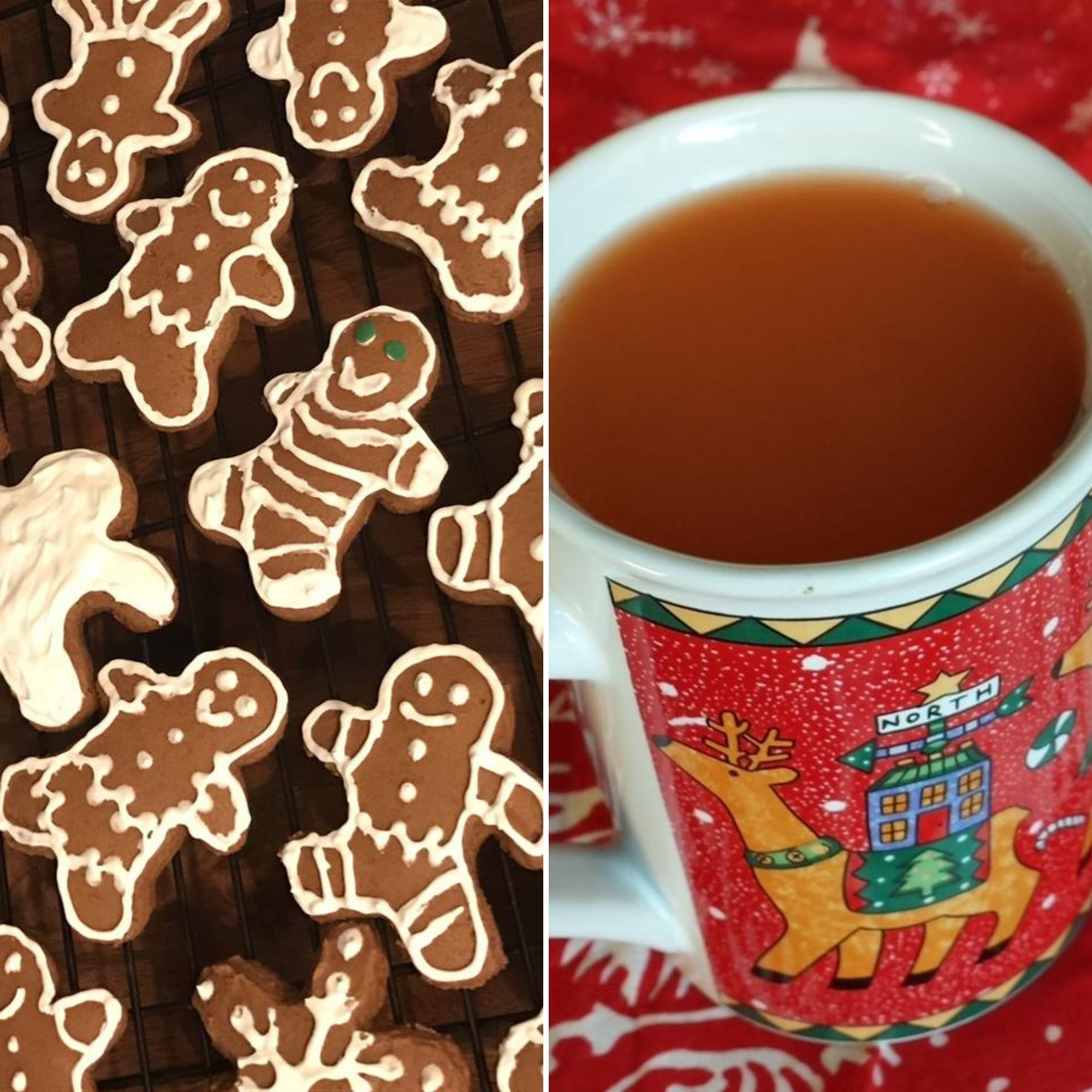 Gingerbread Cookies and a mug of Wassail