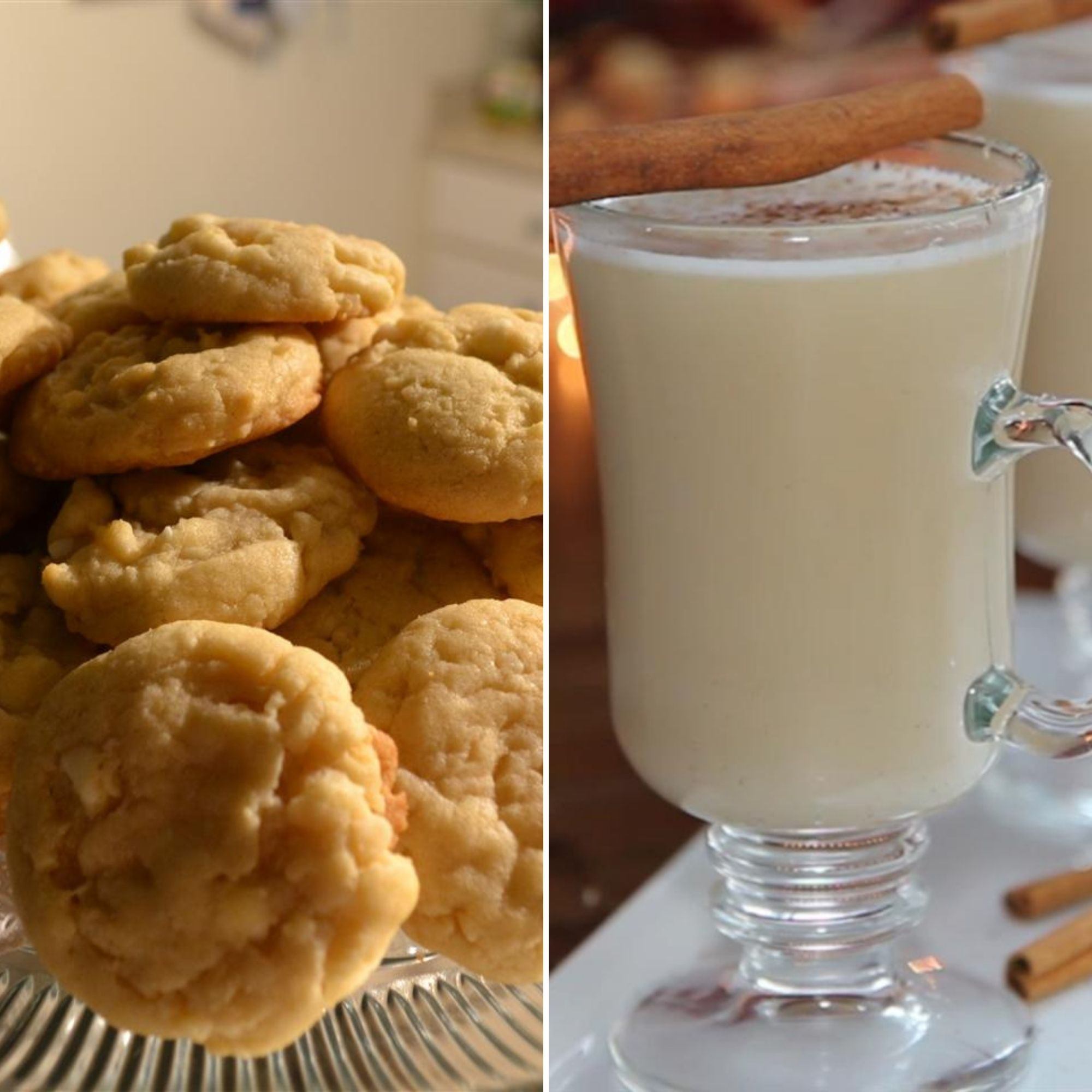 White Chocolate Macadamia Nut Cookies and Hot Buttered Rum
