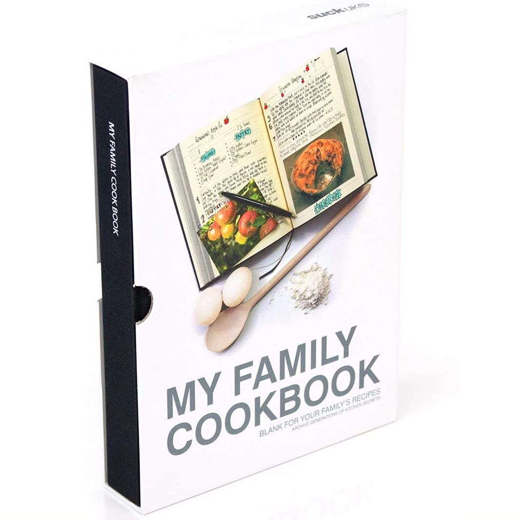 book cover for My Family Cookbook recipe journal