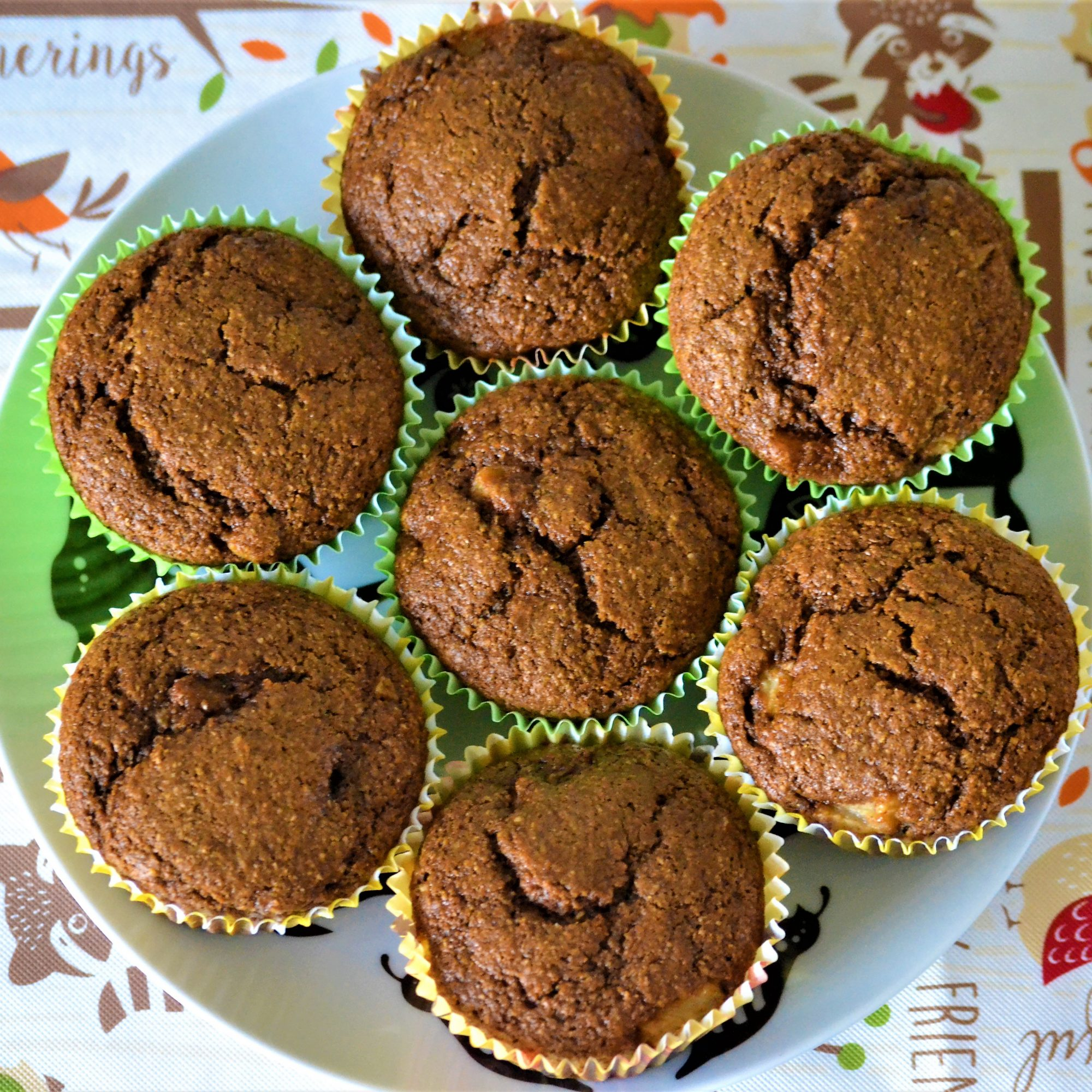 Plateful of Gingerbread-Pear Muffins