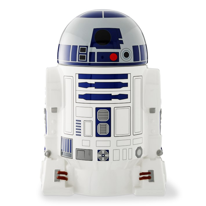cookie jar shaped like R2D2 from Star Wars