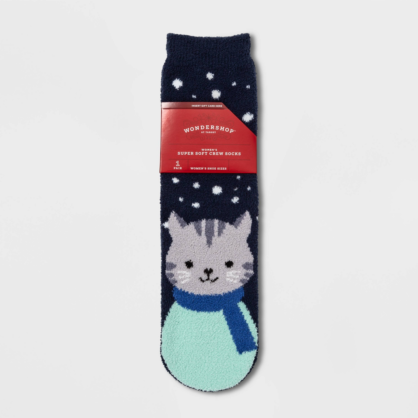 Cat socks with gift card holder