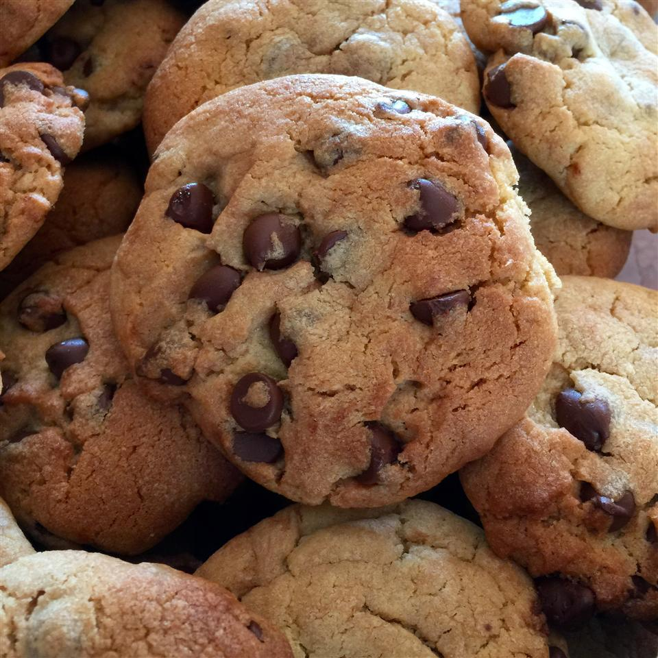 close up of homemade chocolate chip cookies