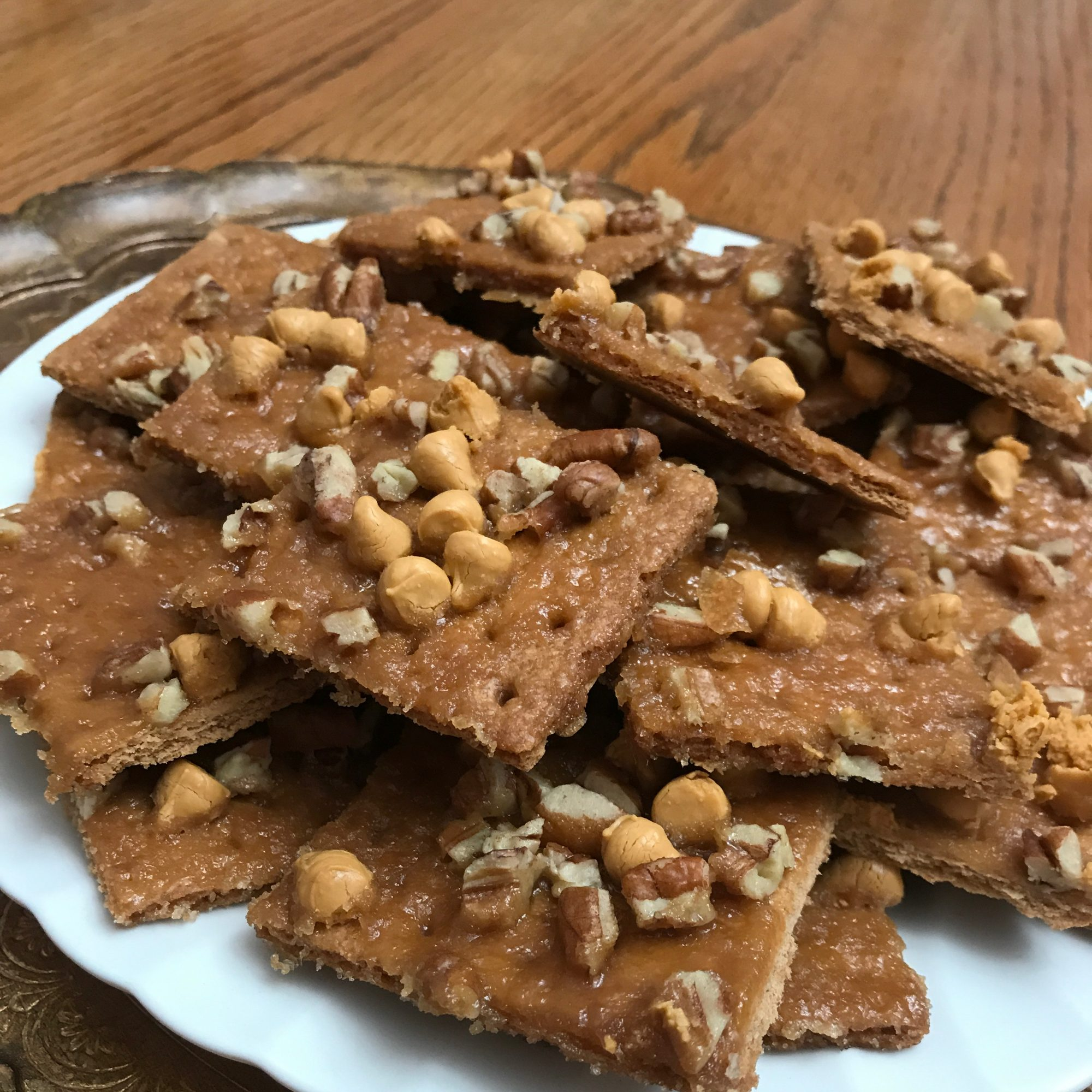 Praline Strips topped with pecans